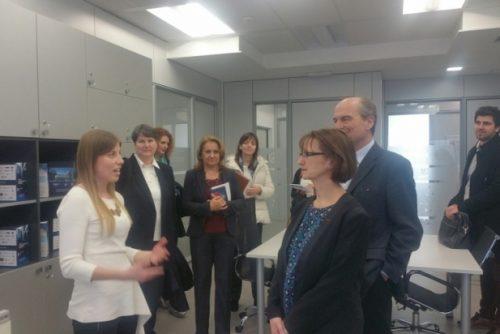 Ambasador Francuske u poseti NTP Beograd 1