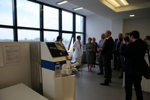 The Governor of Archangelsk district is visiting the STP 7
