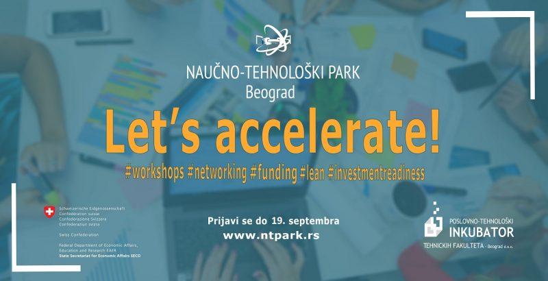 Otvoren poziv za pilot program akcelerator - Let's accelerate! 1