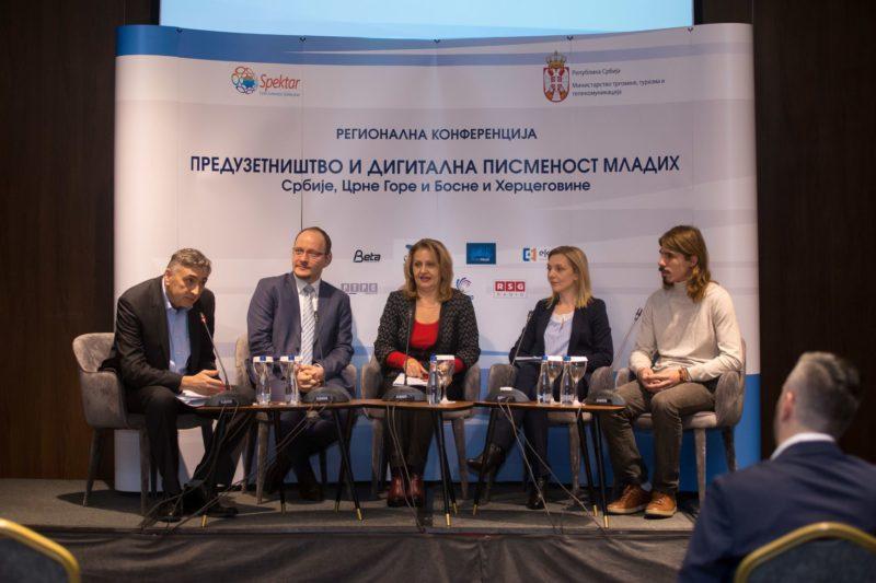 """Regionalna konferencija""""Preduzetništvo i digitalna pismenost mladih Srbije, Crne Gore i Bosne iHercegovine"""""""