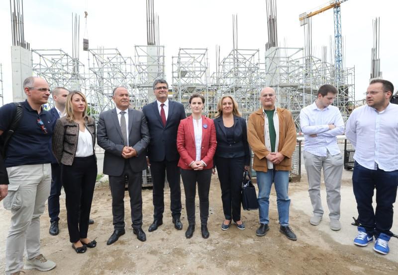 Brnabić i Šarčević u obilasku radova na izgradnji Naučno-tehnološkog parka Niš