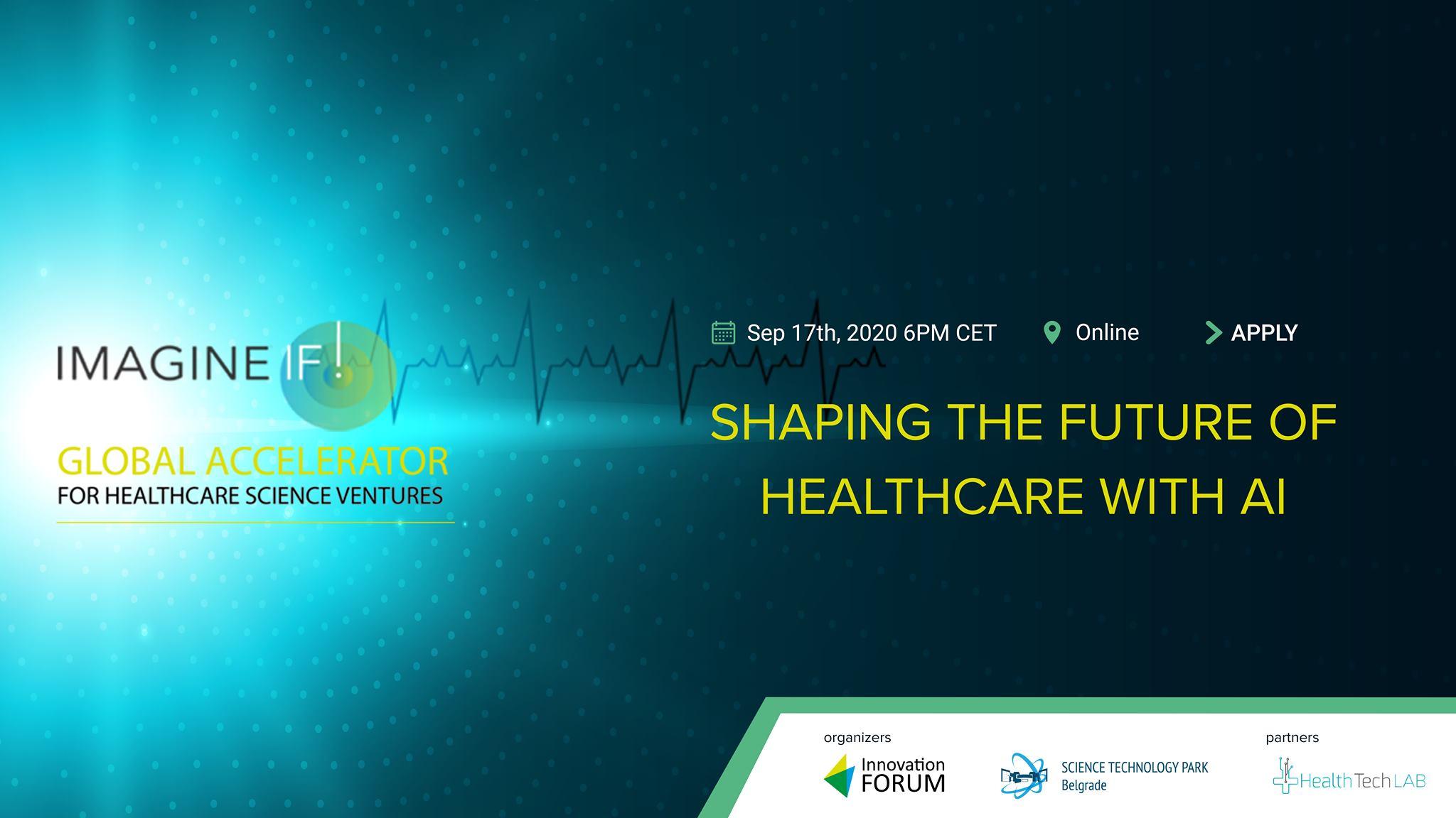 O primeni veštačke inteligencije u medicini 17. septembra na ImagineIF! webinar-u