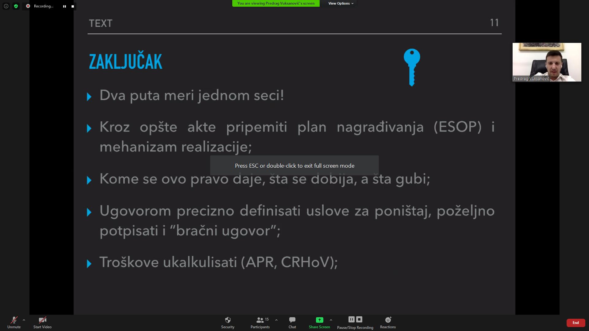 Pravo na sticanje udela – O novini u zakonodavstvu za DOO na webinar-u za kompanije članice NTP Beograd