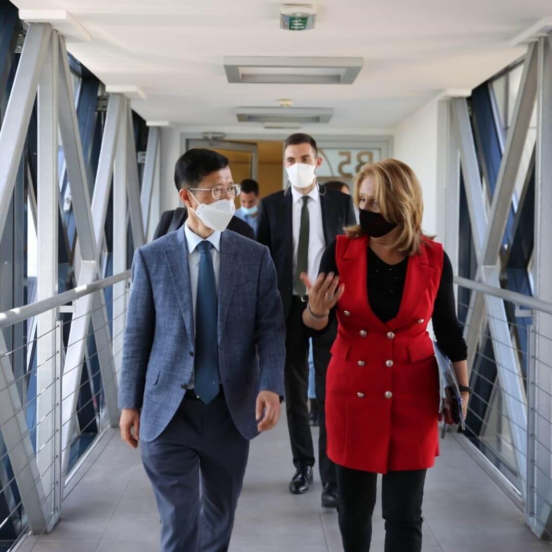 Predstavnici korejske agencije KOTRA u poseti NTP Beograd