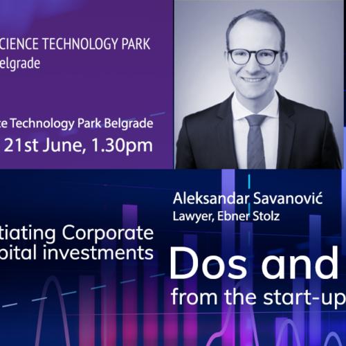 O Corporate Venture Capital investicijama iz perspektive startapa 21. juna u NTP Beograd
